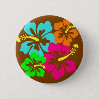 Hibiscus flowers 2 inch round button
