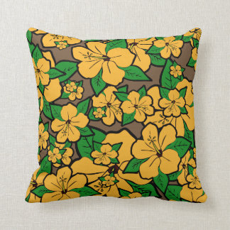 Hibiscus Flowers #3 Throw Pillow