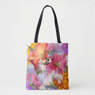 Hibiscus Flowers All-Over-Print Tote Bag