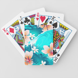 Hibiscus flowers at the beach bicycle playing cards