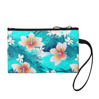 Hibiscus flowers at the beach coin purse