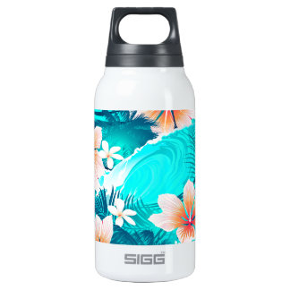 Hibiscus flowers at the beach insulated water bottle