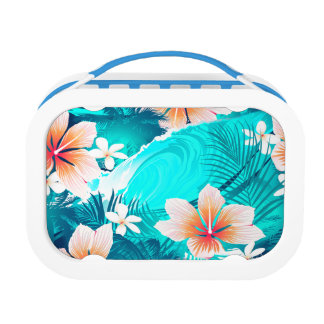 Hibiscus flowers at the beach lunchboxes