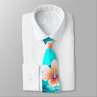 Hibiscus flowers at the beach tie