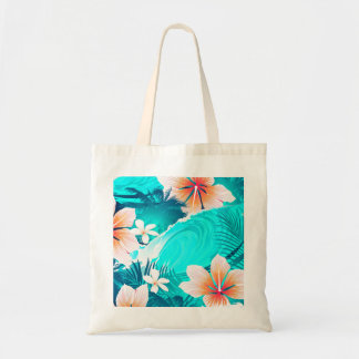 Hibiscus flowers at the beach tote bag
