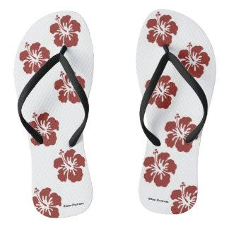 Hibiscus Flowers Flip Flops