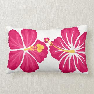 Hibiscus Flowers Lumbar Pillow