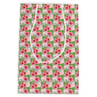 Hibiscus Flowers Medium Gift Bag