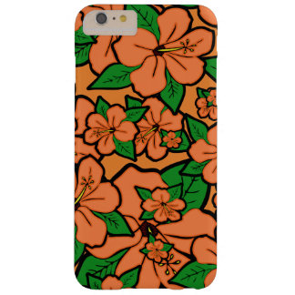 Hibiscus Flowers Peach Barely There iPhone 6 Plus Case