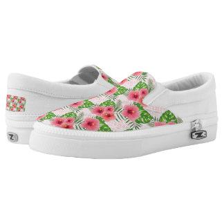 Hibiscus Flowers Slip-On Sneakers