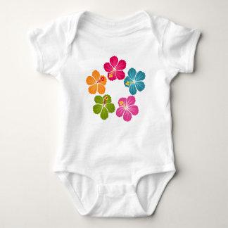 Hibiscus Flowers Wreath Baby Bodysuit