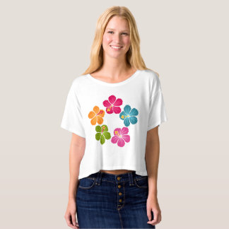 Hibiscus Flowers Wreath T-shirt
