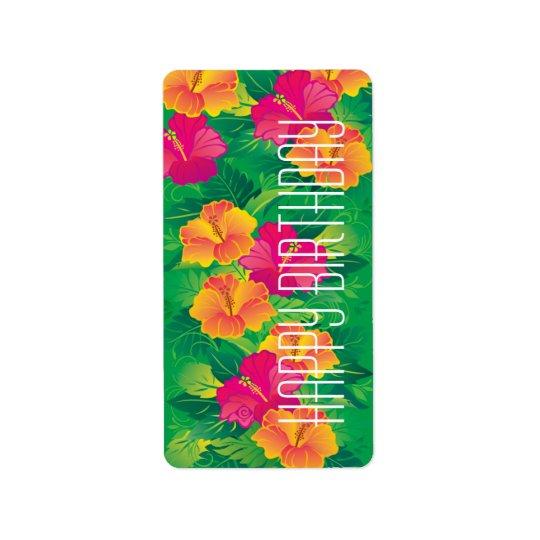 hibiscus garden ~ label