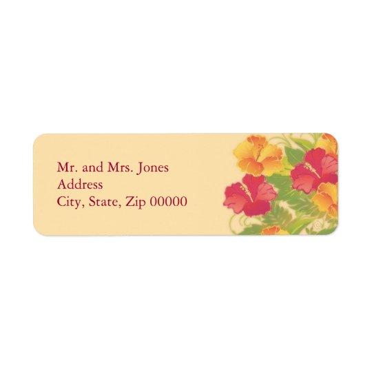 hibiscus garden ~ mailing label return address label