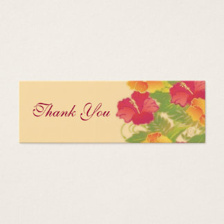 hibiscus garden ~ thank you gift tag