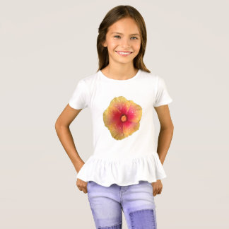 Hibiscus Girls' Ruffle Shirt