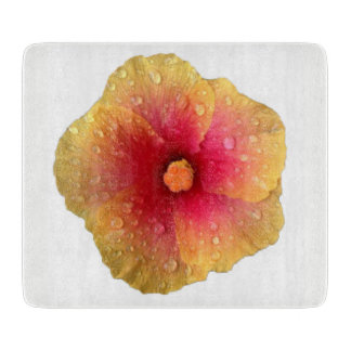 Hibiscus Glass Cutting Board