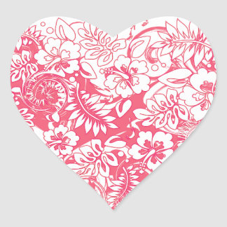 Hibiscus_Growth Heart Sticker