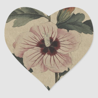 Hibiscus Heart Sticker