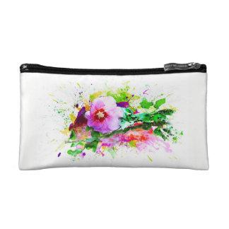 Hibiscus, Hibiskus Flower - Watercolor Splash Makeup Bag