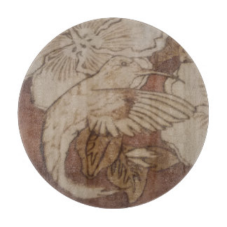 Hibiscus Humming Bird Cutting Board