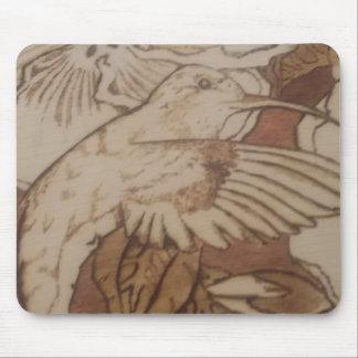 Hibiscus Humming Bird Mouse Pad