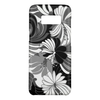 Hibiscus Jungle Hawaiian Tropical Floral Black Case-Mate Samsung Galaxy S8 Case