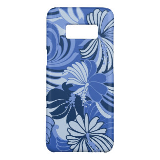 Hibiscus Jungle Hawaiian Tropical Floral Blue Case-Mate Samsung Galaxy S8 Case