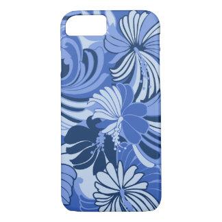 Hibiscus Jungle Hawaiian Tropical Floral Blue iPhone 8/7 Case