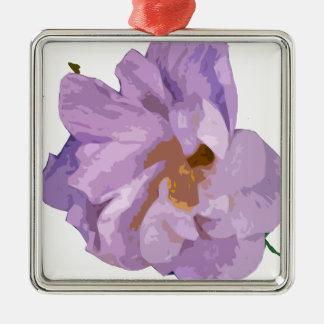 hibiscus metal ornament