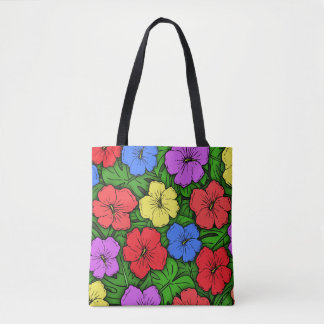 Hibiscus & Monstera #4 Tote Bag