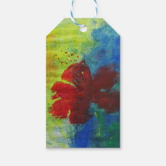 hibiscus pack of gift tags