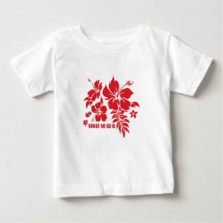 Hibiscus Pareau Hawaiian Floral in Red Baby T-Shirt
