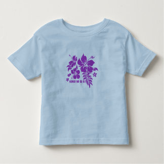 Hibiscus Pareau Hawaiian Floral in Violet T Shirts