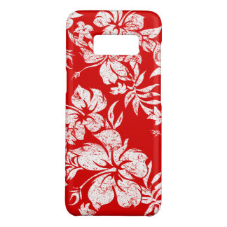 Hibiscus Pareau Hawaiian Floral Red Aloha Print Case-Mate Samsung Galaxy S8 Case