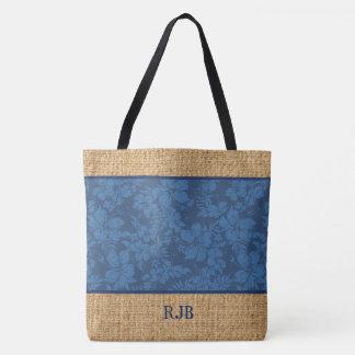 Hibiscus Pareau Hawaiian Monogram Beach Bag