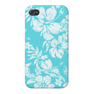Hibiscus Pareau Hawaiian Savvy iPhone 4 Cases