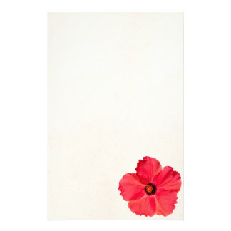 Hibiscus - Personalized Tropical Hot Pink Flower Stationery