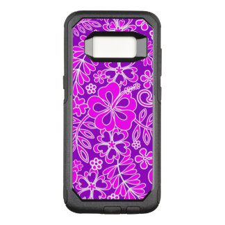 Hibiscus Pink and Purple Pattern OtterBox Commuter Samsung Galaxy S8 Case
