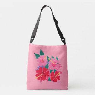 Hibiscus pink bag by Artist Joanne Short
