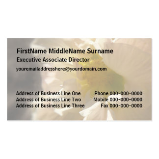 Hibiscus Pink on Sepia Business Card