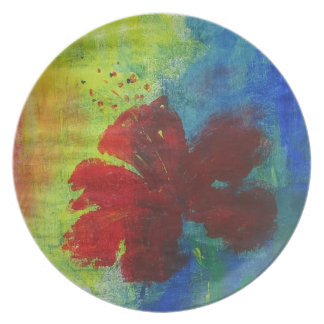 hibiscus plate