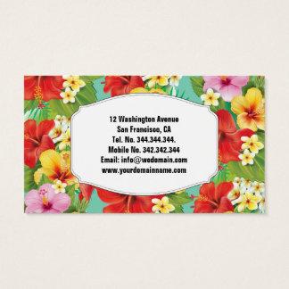 Hibiscus & Plumeria Hawaii Tropical Islands Business Card