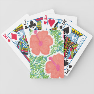 Hibiscus Pop Art Pattern Bicycle Playing Cards