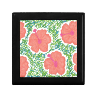 Hibiscus Pop Art Pattern Gift Box