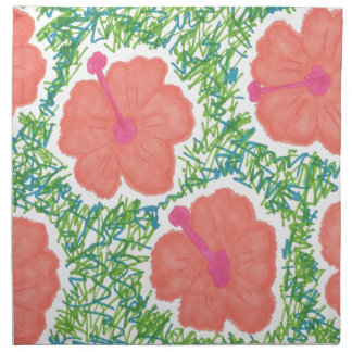 Hibiscus Pop Art Pattern Napkin