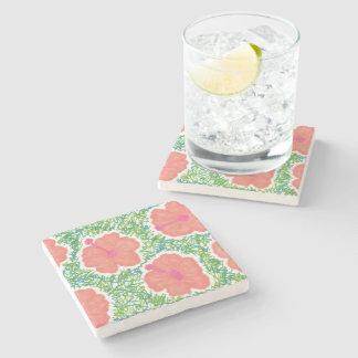 Hibiscus Pop Art Pattern Stone Coaster