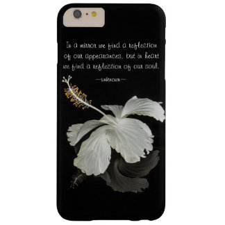 Hibiscus Reflection With Quote iPhone 6 Plus Case
