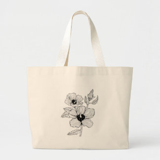 Hibiscus Rose of Sharon Flower Large Tote Bag