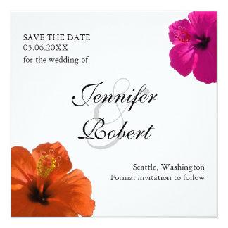 Hibiscus Save the Date Invitation